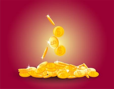 converter: large pile of coins, money  Illustration