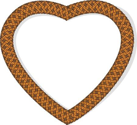rope heart Stock Vector - 11325560