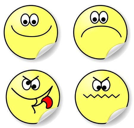 optimist: set of six expressions of emotion