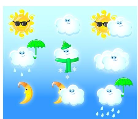 iconos del clima: Iconos del tiempo eps 10 Vectores