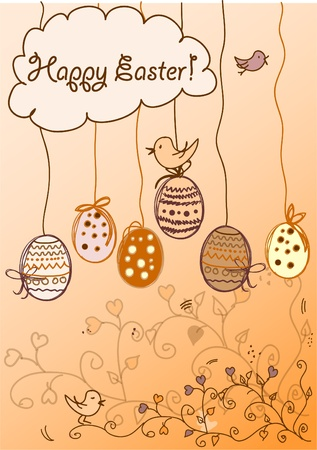 Easter background card  Stock Vector - 11325562