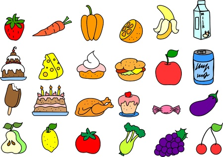 set of icons of food  Vector