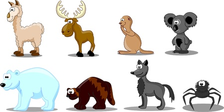 marmot: set of animals  Illustration