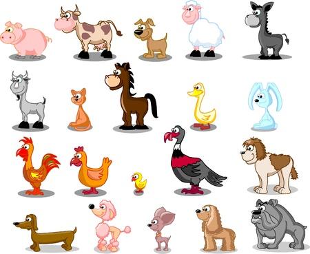 superlarge cartoon set pets