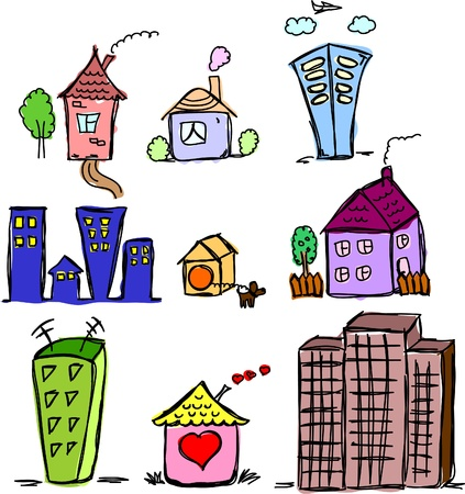 art houses for your design Stock Vector - 11498774