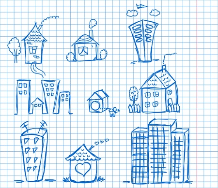art houses for your design  Vector