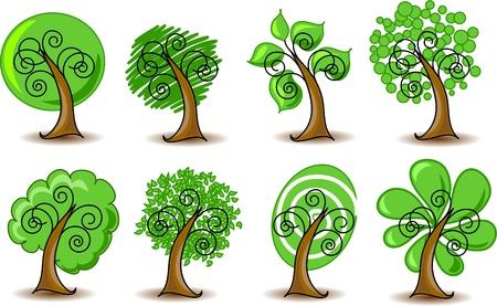 Establecer los árboles resúmenes de vectores