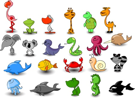 fishy: vector animal set