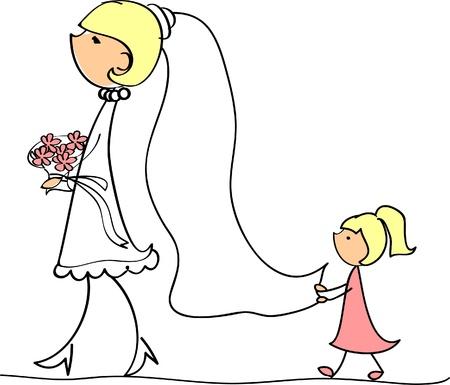 la foto de boda Ilustración de vector