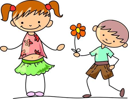 childlike: Happy kids