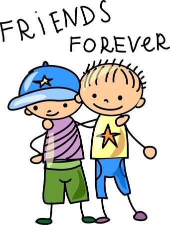 fraternidad: los mejores amigos Vectores