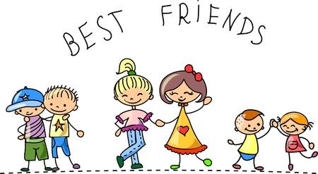 enfants: R�glez personnages de dessins anim�s des enfants Illustration