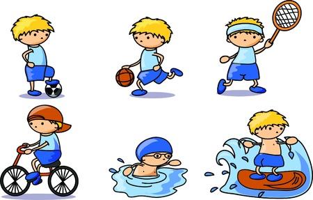 sportsman: Deportes iconos Vectores