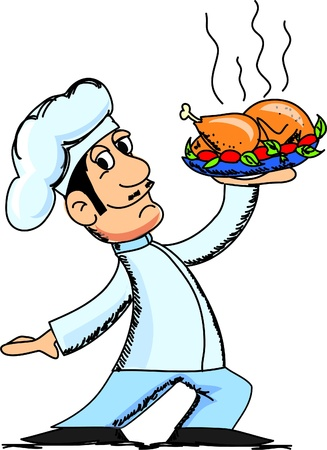 preparing: cartoon chef