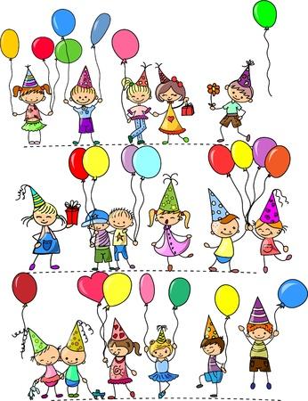 globos de cumplea�os: los ni�os divertidas de la fiesta de cumplea�os