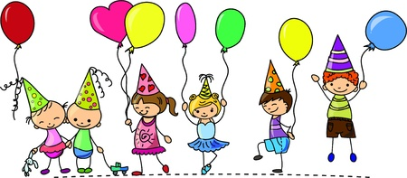 los niños divertidas de la fiesta de cumpleaños