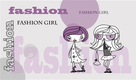 fashion girls  Stock Vector - 11499024