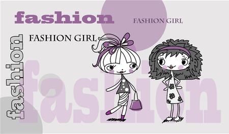 Trendy girl, background Stock Vector - 11499026