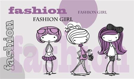 Trend girl  Vector