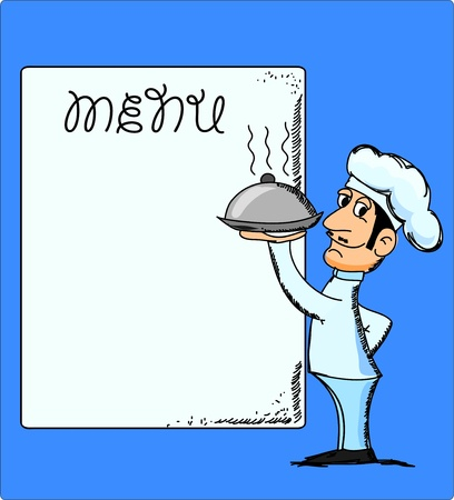 french cafe: cartoon chef