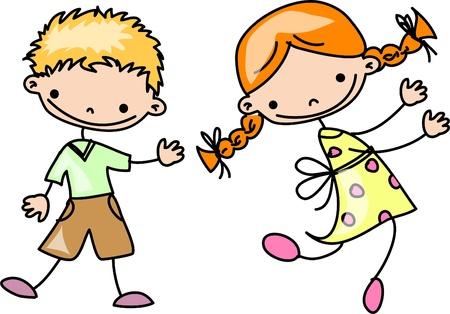 school baby: happy cartoon kids  Illustration