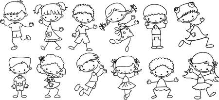baby on board: cartoon kids  Illustration