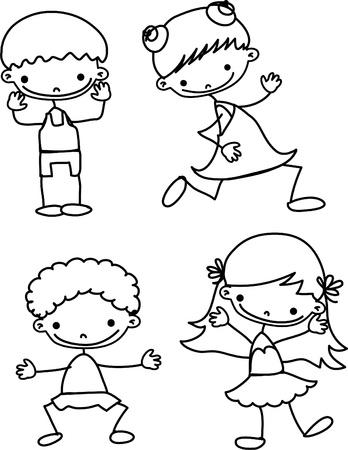 cartoon kids  Vector