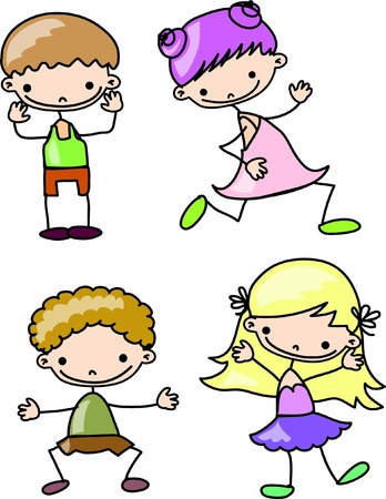 the pupil: cartoon kids  Illustration