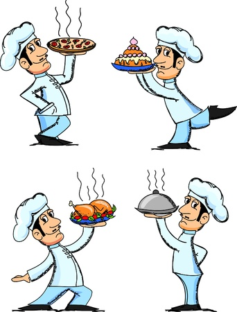 chef caricatura: Chef de dibujos animados