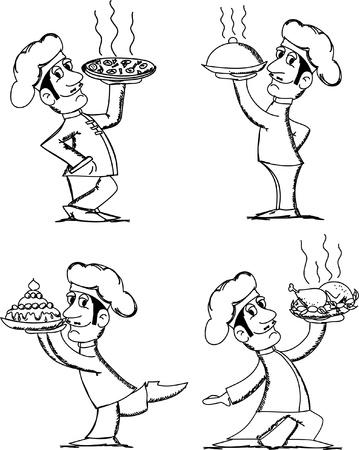 italian CHEF: cartoon chef