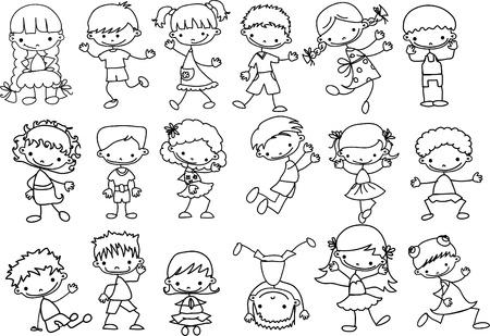 Cute happy kids Stock Vector - 11499165