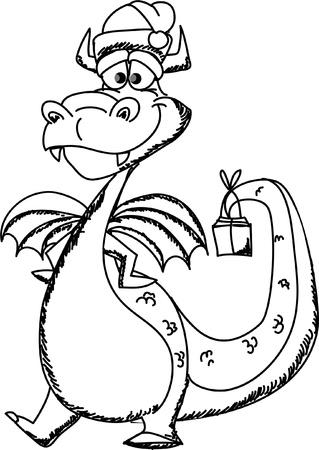 Cartoon cute dragon, a symbol 2012  Stock Vector - 11499191