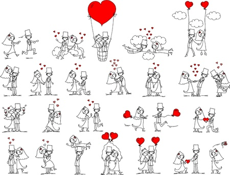 love cartoon: cartoon wedding pictures