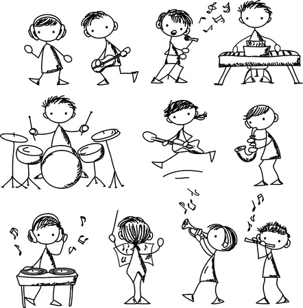 flet: zestaw Doodles Muzyka