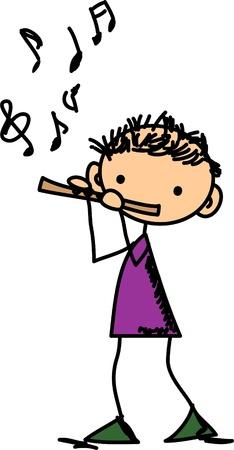 flauta: Doodles Música