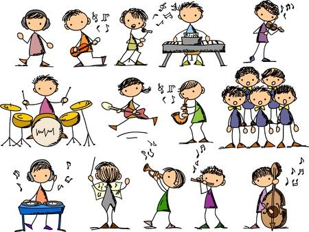 guitariste: ensemble de Doodles Musique