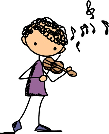 violin player: Music Doodles