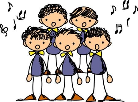 the singer: Stock Vector Illustration: Music Doodles