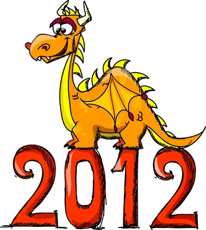 Dragon, Happy New Year  Vector