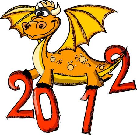 Dragon, Happy New Year  Vector