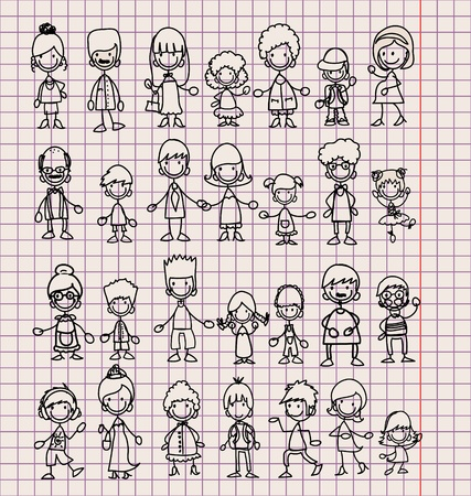 kin: Doodle members of large families