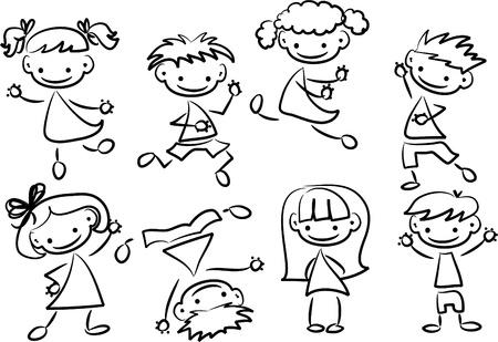 Cute happy kids  Vector