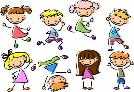 school baby: Cute happy kids