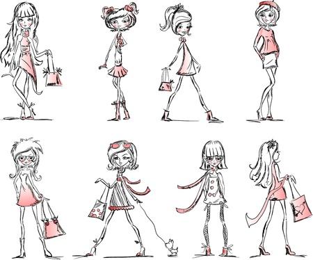 sister: Trend vector girls