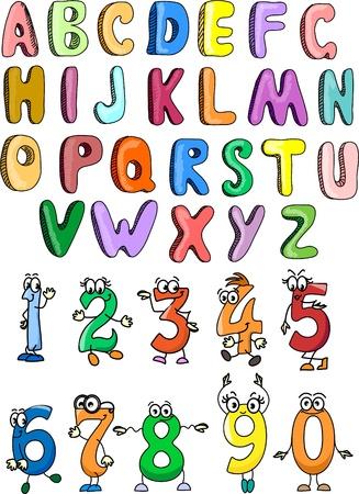 cartoon numbers: El alfabeto y los n�meros para su dise�o