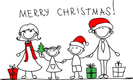 Christmas family  Stock Vector - 11499347
