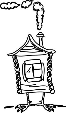 Cartoon hand drawing house Vector
