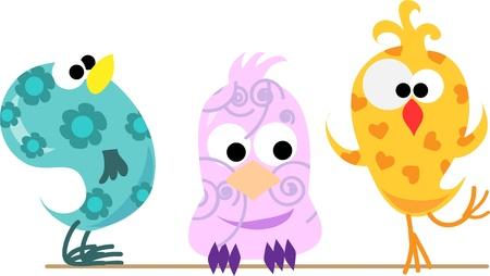 bird drawing: cute birds