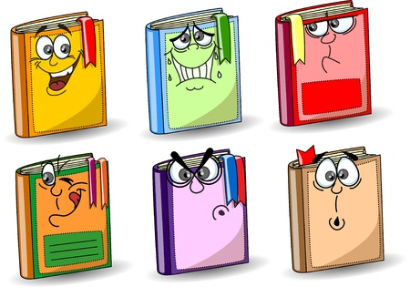 Cartoon school books