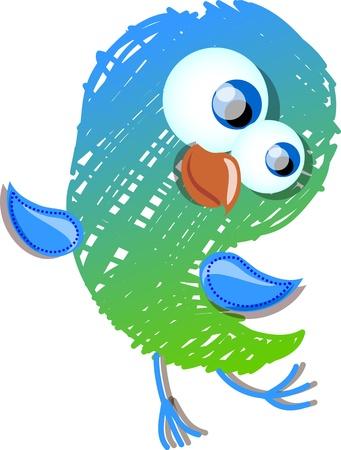 humming: Cute bird  Illustration